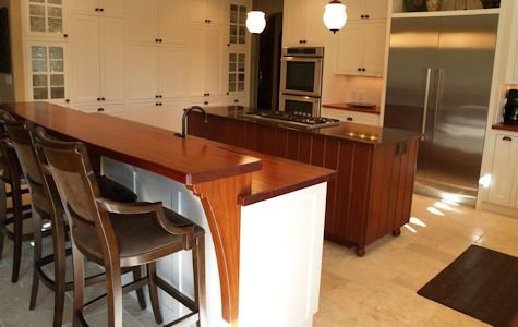 Jatoba Counter Top and Bar Top with Custom Jatoba Corbels