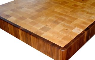 End Grain Hard Maple Island Top with a Walnut Border.
