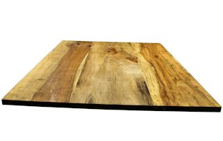 Custom island top constructed from Texas Pecan slabs. Softened edges and Tung-Oil/Citrus finish