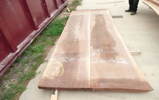A matched pair of Walnut slabs with straight edges.