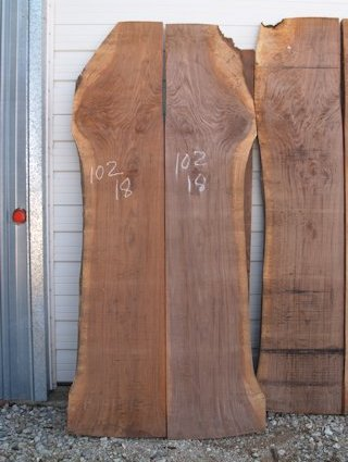 A book-matched set of Walnut slabs.