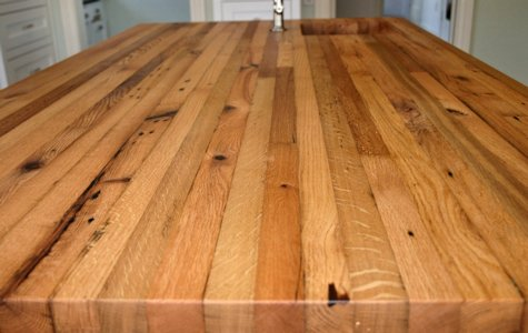 Face Grain Reclaimed White Oak Wood Countertop