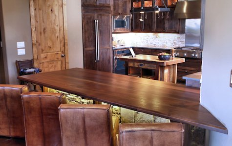 Tx Slab Walnut Island Countertop