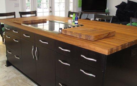 Teak Custom Wood Countertops Island Tops Table Tops