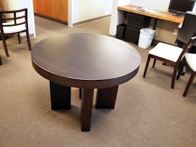 White Oak face grain custom wood table.