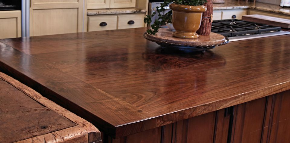 Tx Walnut Slab Island Countertop