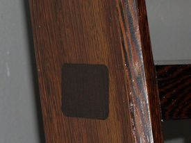 Custom Wenge library ladder with thru mortise and tennon jointery.