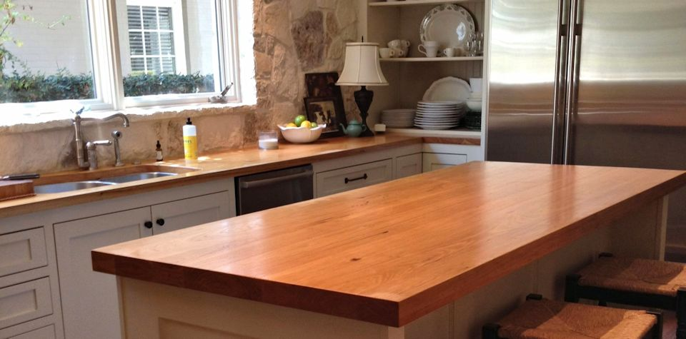 Custom Pecan Wood Island Countertop