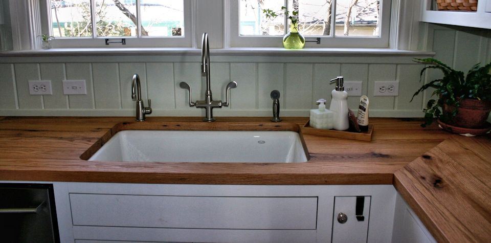 Reclaimed White Oak Wood Countertop